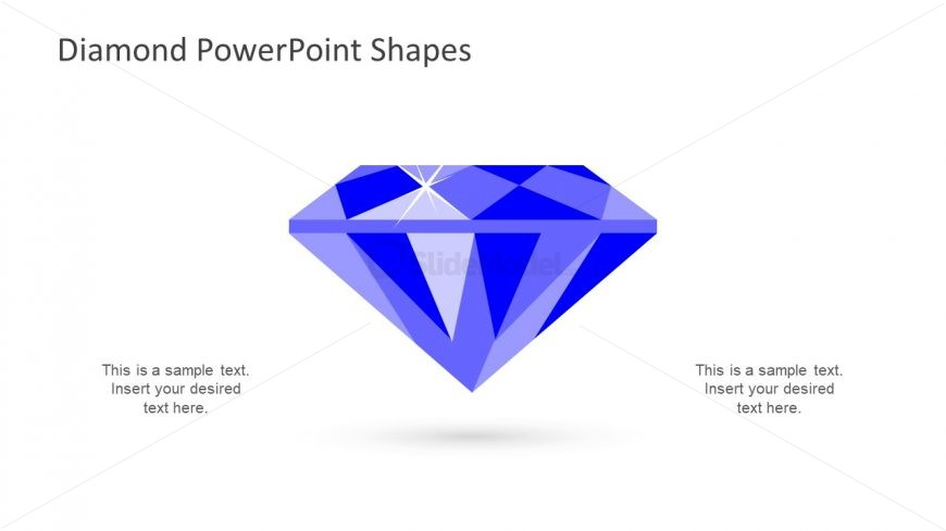 Diamond Diagram Design Flat Vector