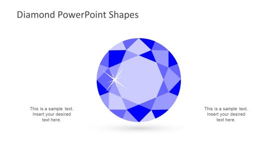 Top View Diamond Shape Presentation