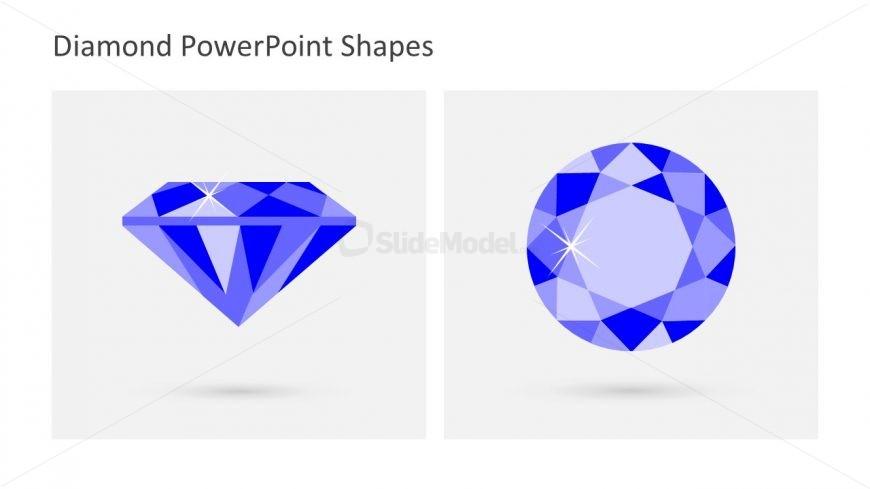 Editable Flat Shape of Diamond