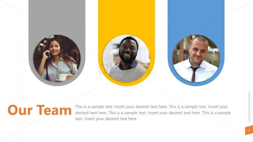 Team Template Key Performers - SlideModel