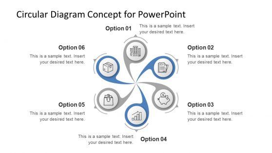 Circular PowerPoint Swirl Diagram