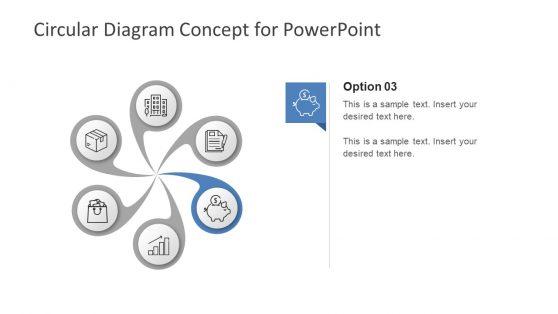 6 Steps PowerPoint Swirl Diagram