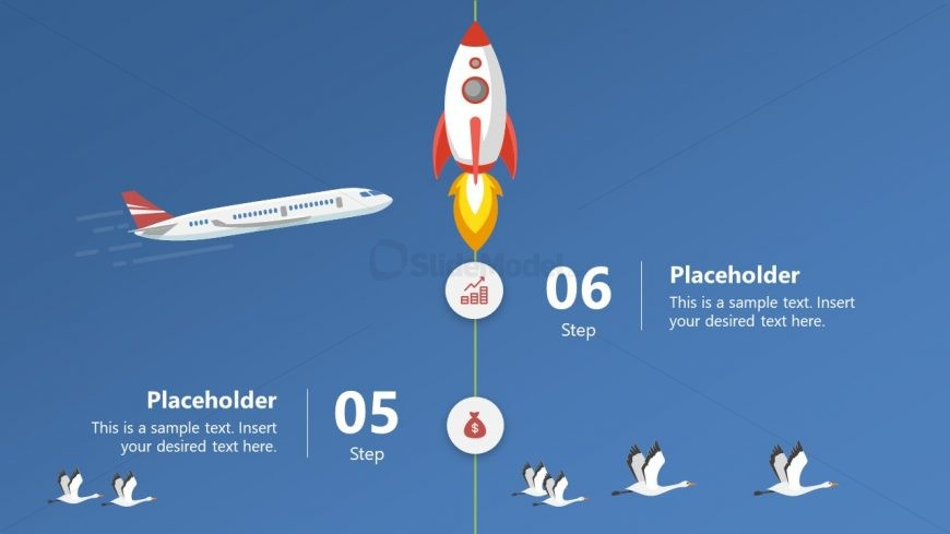 Startup Concept PowerPoint Rocket