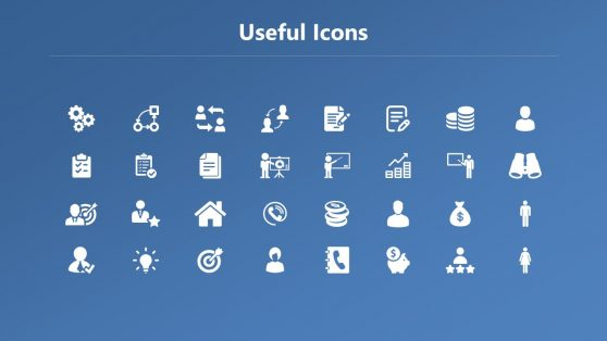 Slide of Useful Infographic Icons Space