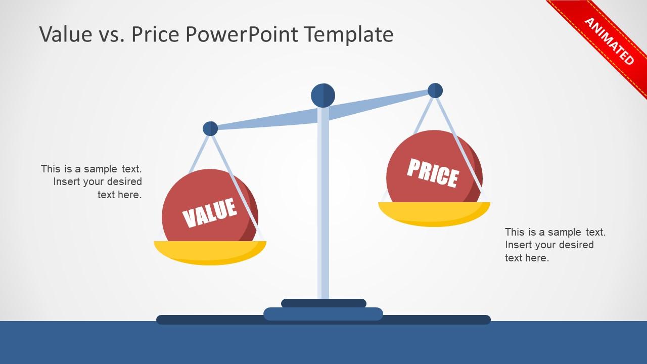 Slide of Value Vs Price