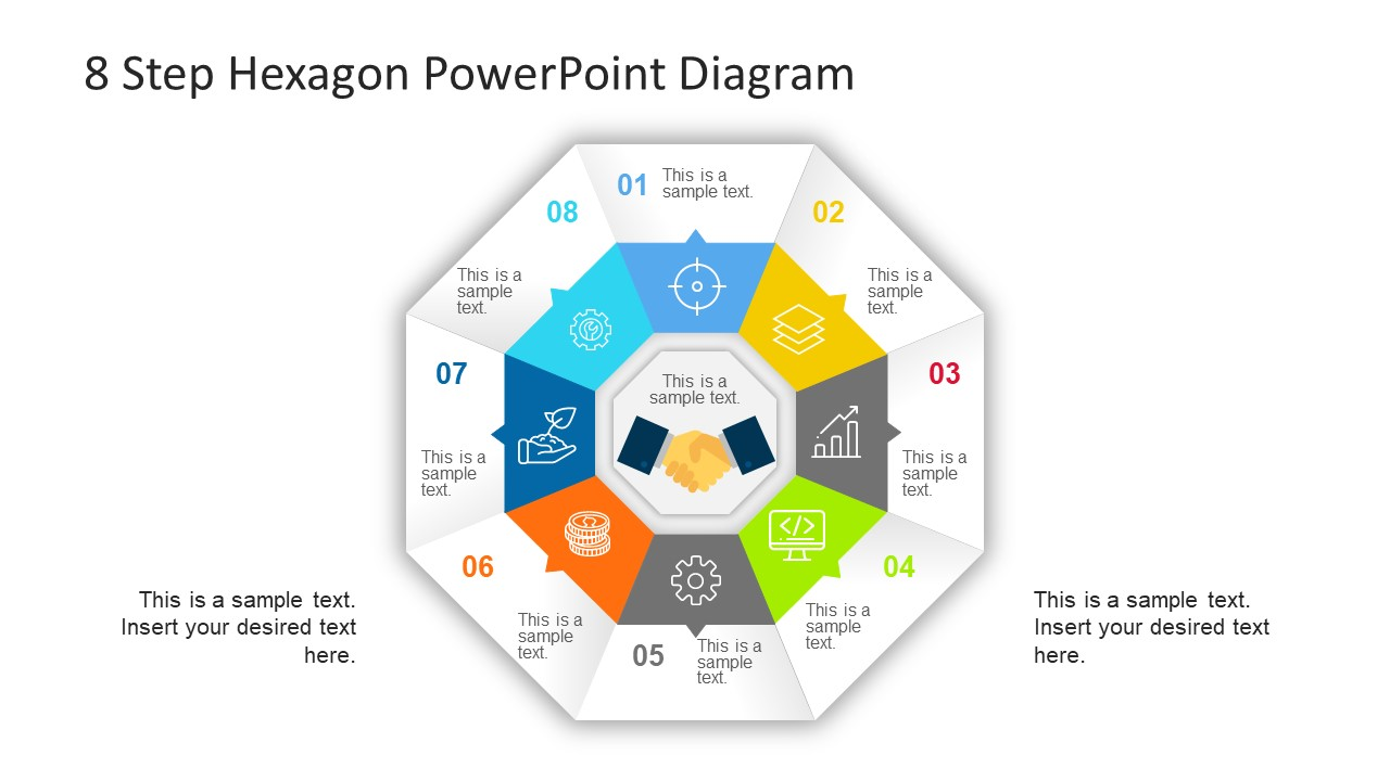 Hexagonal PowerPoint Diagram Cycle