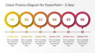 Multi-Step Linear Process Diagram for PowerPoint