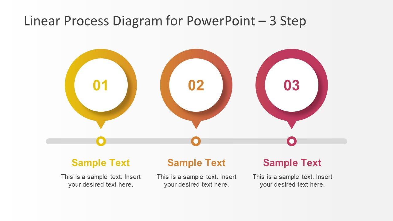 Template of 3 Steps Timeline