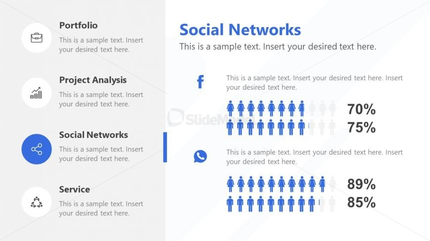 Infographic Social Network Presentation