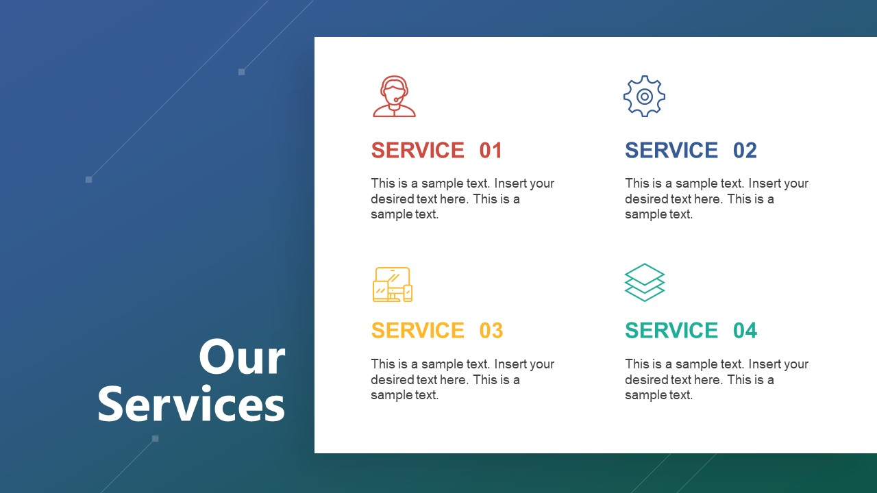 Company Product and Service Slide