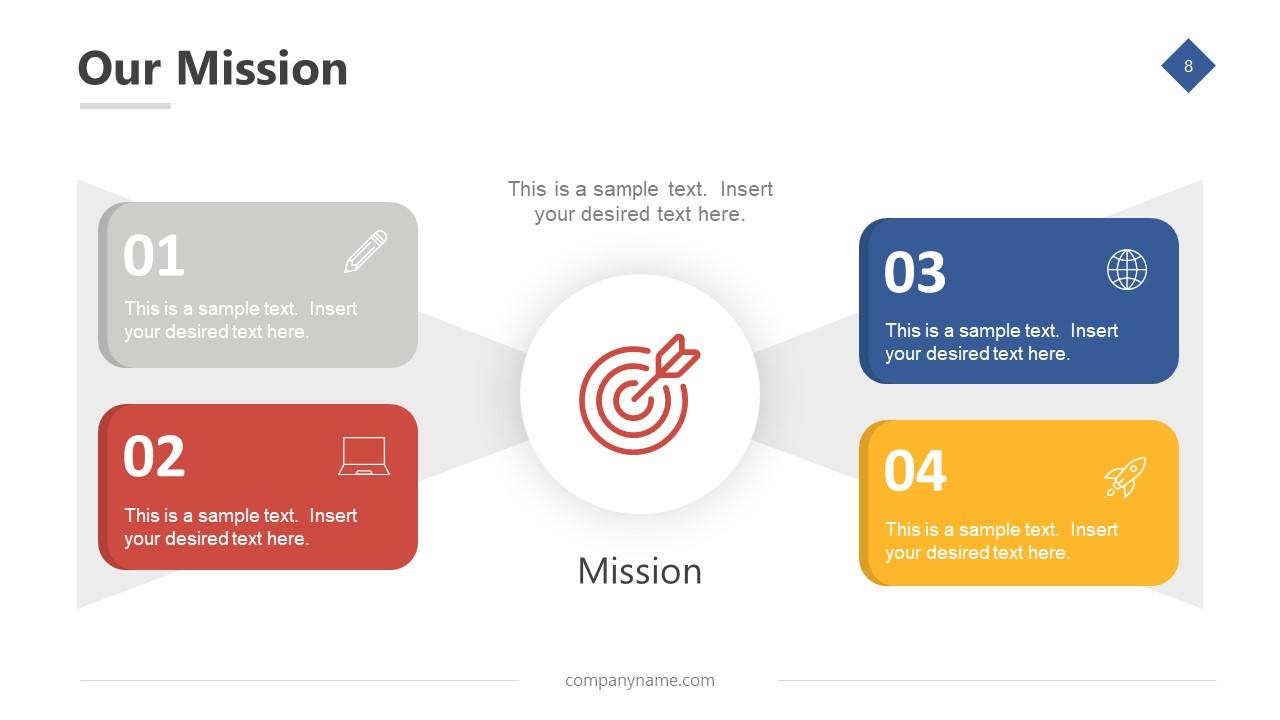 Business Mission Slide Design