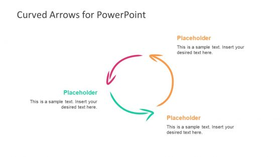 Curved Arrow Cycle Diagram PPT