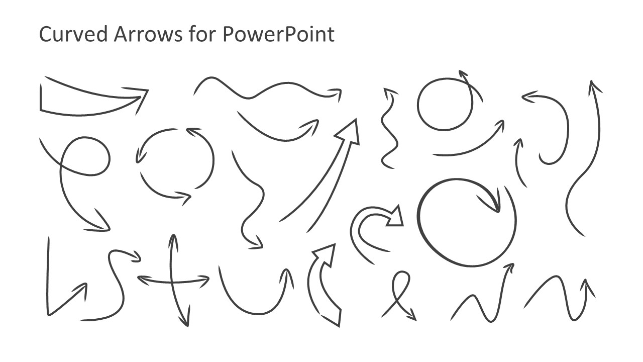 curved arrows toolkit template for powerpoint