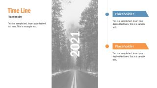 Vertical Timeline Slide 6 Milestones
