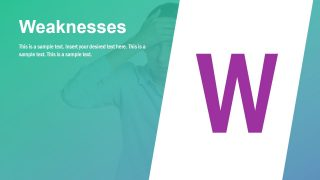 Weaknesses Infographic Slide for SWOT