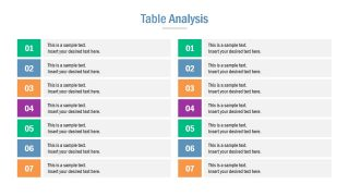 Comparison Table 7 Steps