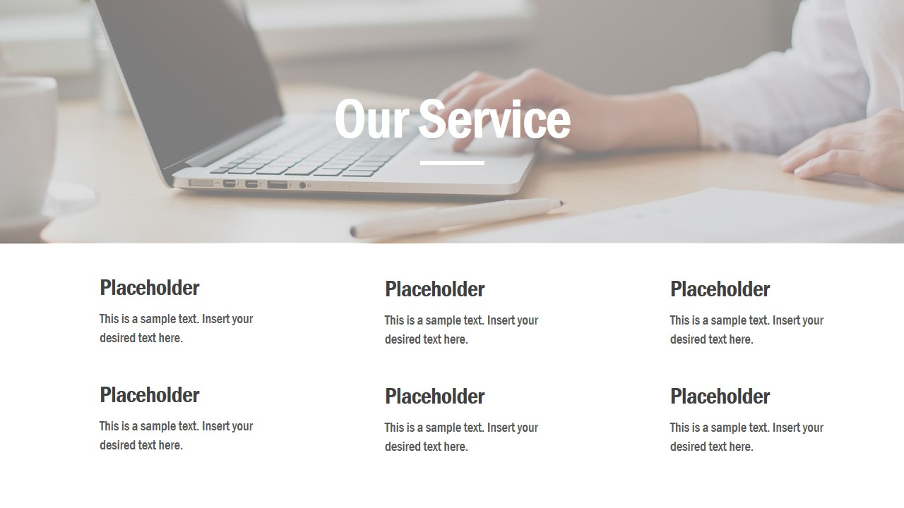 Business Slide Deck with Services