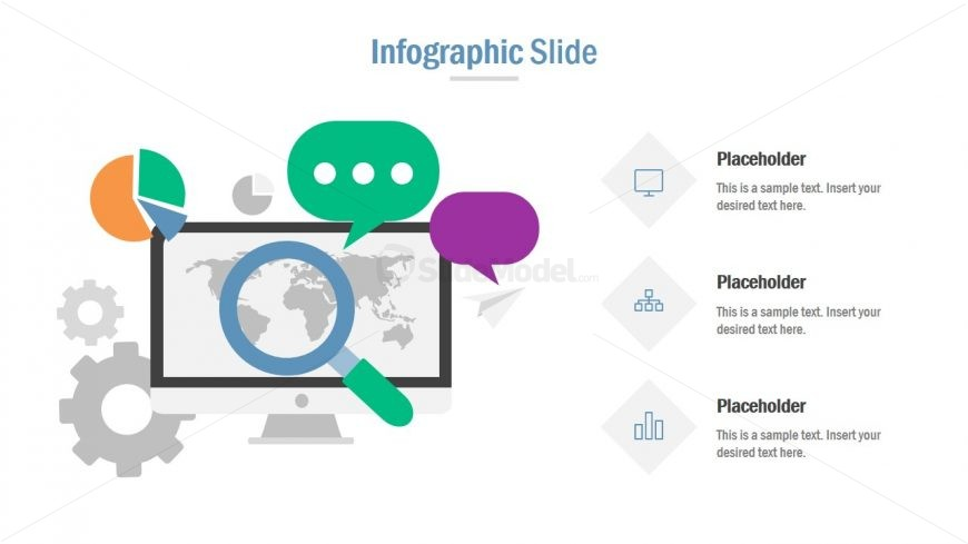 Slide of Business Search with Infographics