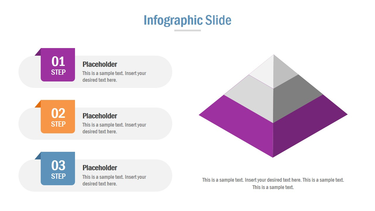 Bullet List and 3D Pyramid Diagram