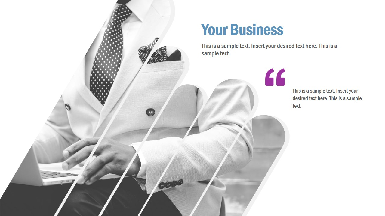 Business Slide with Cutout Picture