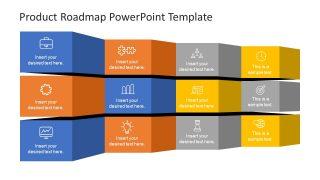 Slide of Infographics in Folded Roadmap
