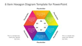 6 Item Hexagon Diagram Template for PowerPoint