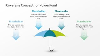 Umbrella Coverage Concept PowerPoint Template