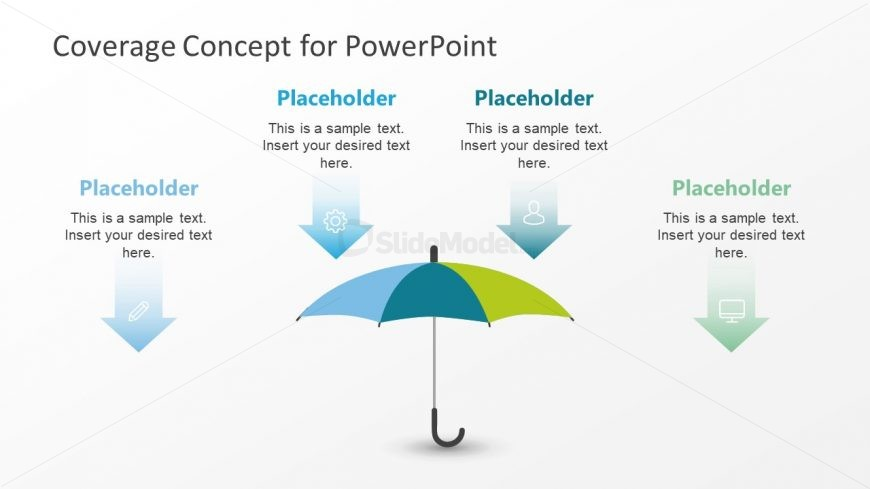 3 Segment PowerPoint Umbrella