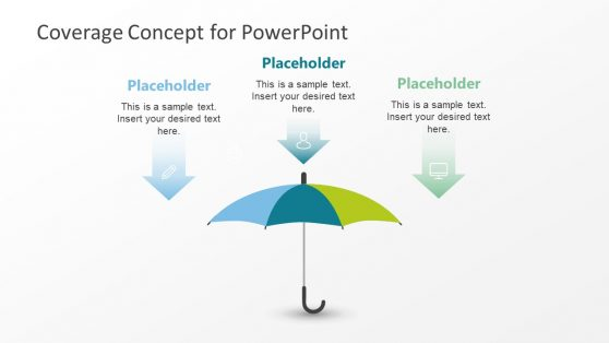 Umbrella Template PowerPoint Diagram