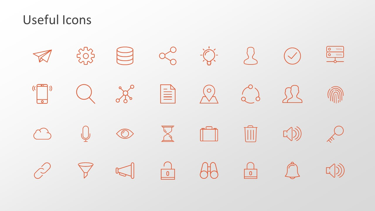 Infographics Icons Trend Chart