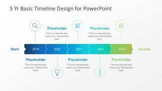 5 Year Basic Timeline PowerPoint Template