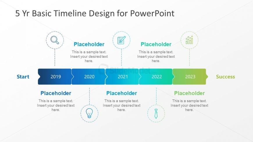 5 Year Timeline Milestones Design