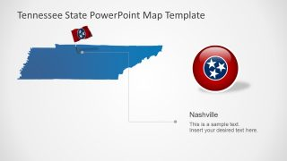 Silhouette Map Template of Tennessee