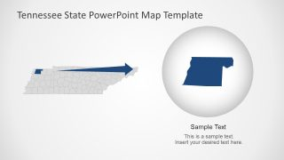 Editable Map Template Tennessee