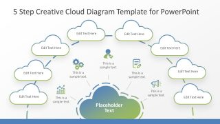 5 Step Creative Cloud Diagram Template