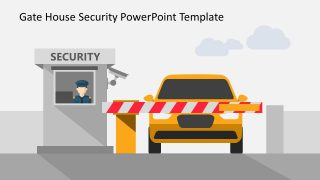 Gate House Security PowerPoint Shapes