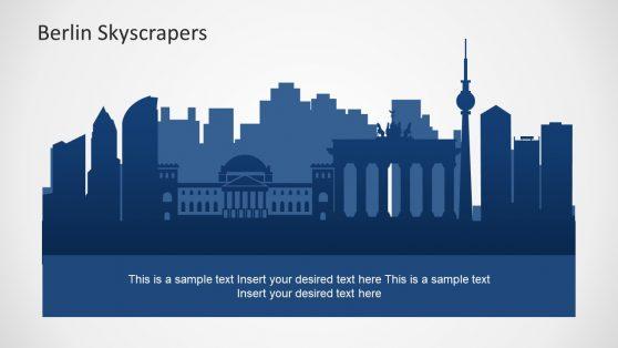 Silhouette Skyline Berlin PowerPoint