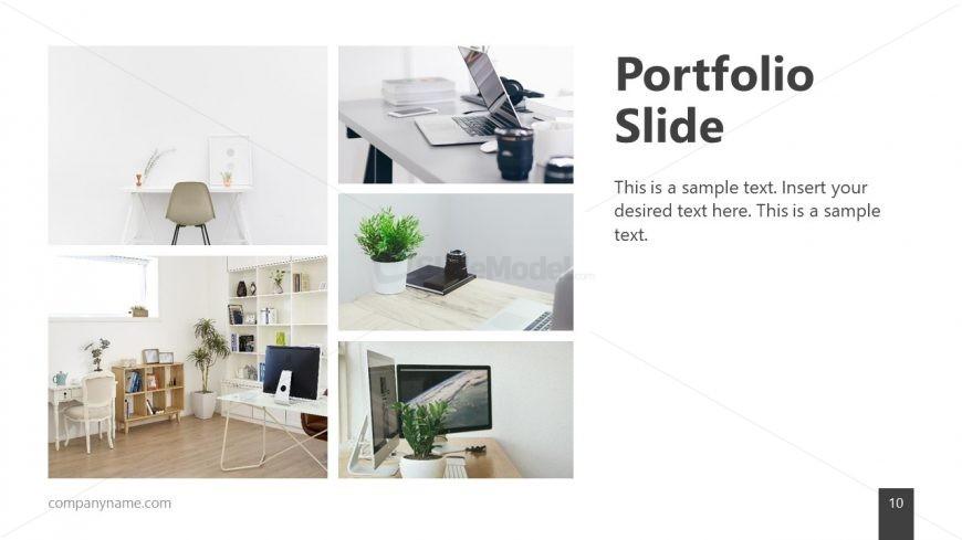 Minimalist Template Portfolio Design Slidemodel