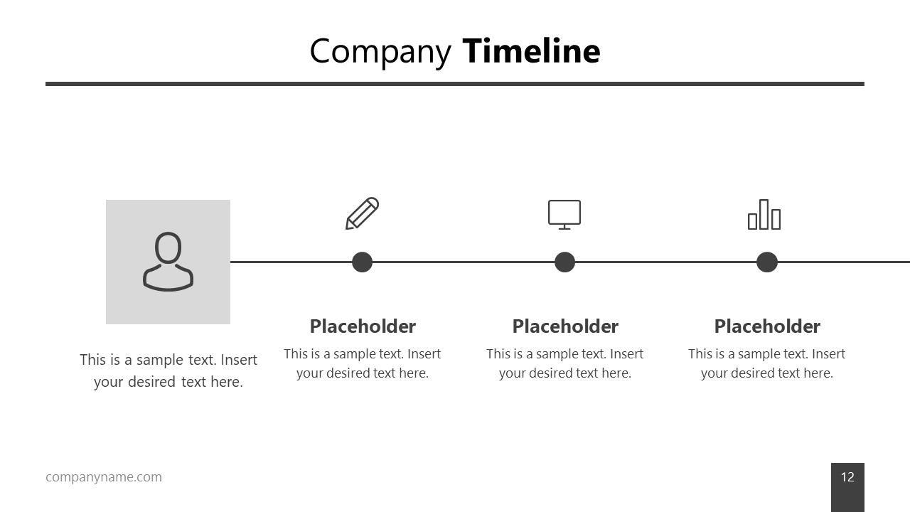 PPT Timeline Business Infographic