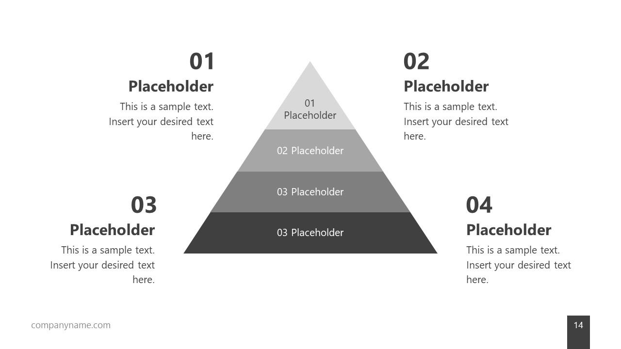 Minimalist Pyramid Diagram PPT