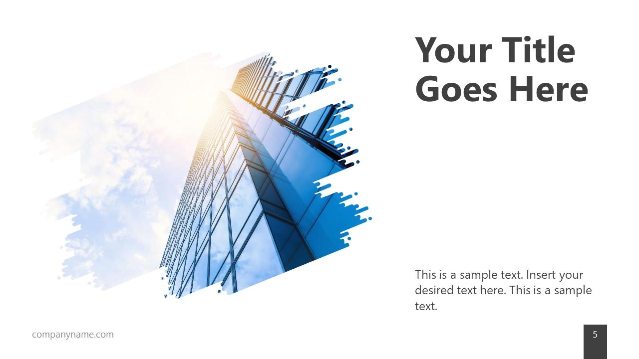 Skyscraper Cutout Placeholder for Minimalist