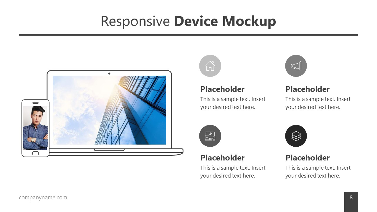 Screen Mockups Responsive Layout