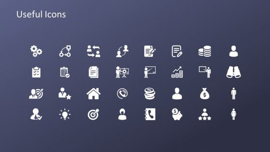 Slide of Infographic Useful Icons