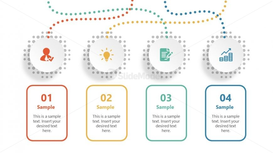Template of Four Infographic Elements