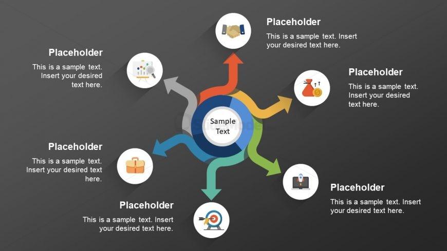 Slide of 6 Steps Circular Diagram