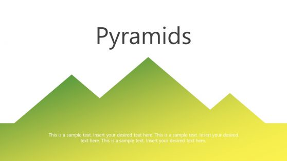 Pyramids PowerPoint Gradient Cutouts