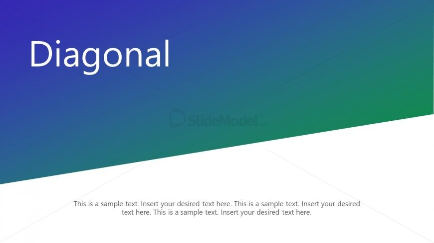 PowerPoint Diagonal Template PPT