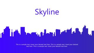 Blue Skyscrapers PowerPoint Background