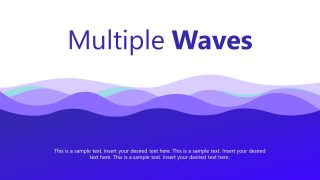 Waves Style PowerPoint Background
