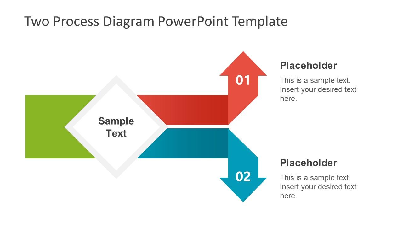 Split Arrows PowerPoint Diagram